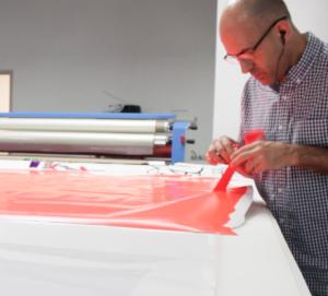 custom fabrication of vinyl graphics