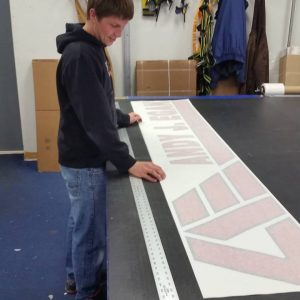 vinyl sign fabrication