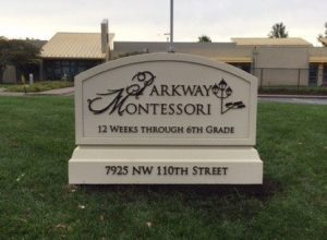 custom monument sign for montessori school