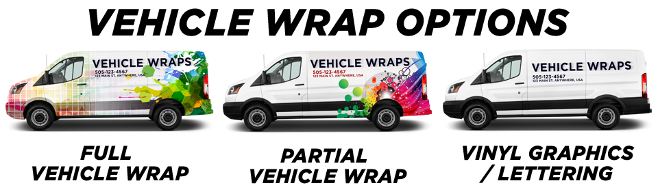 Lansing Vehicle Wraps vehicle wrap options