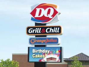 Kansas City Lighted Signs 0092 Dairy Queen Bendsen Sign  Graphics W 19mm 80x176 Bloomington IL 101718 1 300x225